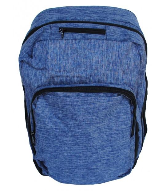 Innholdsrik skolesekk, blå